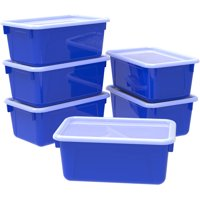 Storex Small Cubby locker Bin, with Cover, Classroom Colors Blue(6 units/pack)