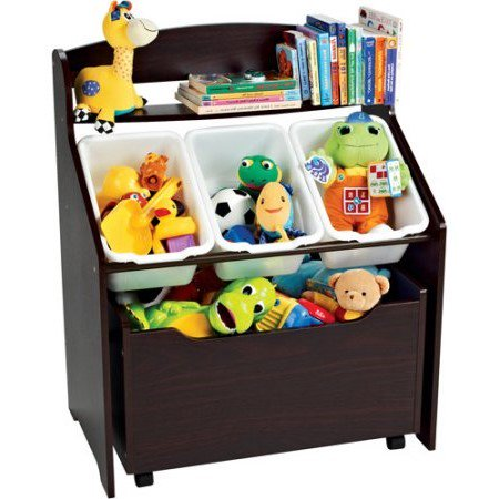 Tot Tutors 3-Tier Storage Unit with Rollout Toy Box - Childrens Store