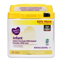 Parent's Choice Non-GMO Premium Infant Formula with Iron, 35 oz