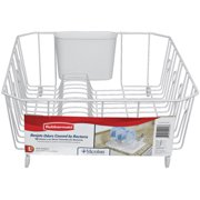 Rubbermaid Antimicrobial Dish Drainer, Large, White