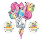 9pc Disney Princess 4th BIRTHDAY PARTY Balloons Decorations Supplies