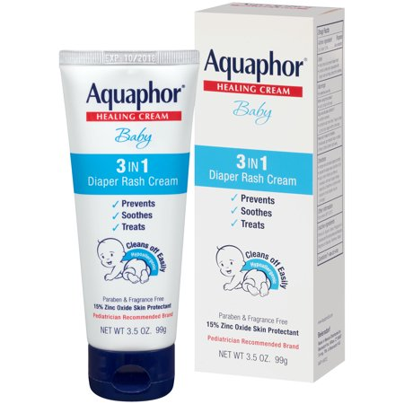 Aquaphor Baby 3in1 Diaper Rash Cream 35 Oz Walmartcom