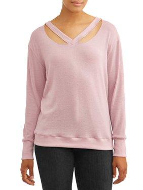 Product Image Women s Long Sleeve Cutout V-Neck Sweatshirt. Alison Andrews 22764cb9cc