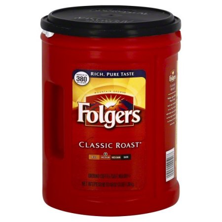 - (2 Pack) Folgers Classic Roast Ground Coffee, 48-Ounce