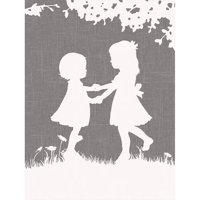 Oopsy Daisy - Sisters Dance Canvas Wall Art 18x24, Patti Rishforth