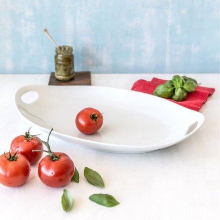 Porcelain Tray (Better Homes & Gardens Porcelain Oval H≤d Tray, White )