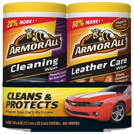 Armor All Cleaning & Leather Care Wipes (2 x 30 (Best Leather Restoration Products)