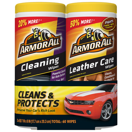 Armor All Cleaning & Leather Care Wipes (2 x 30 count) ()