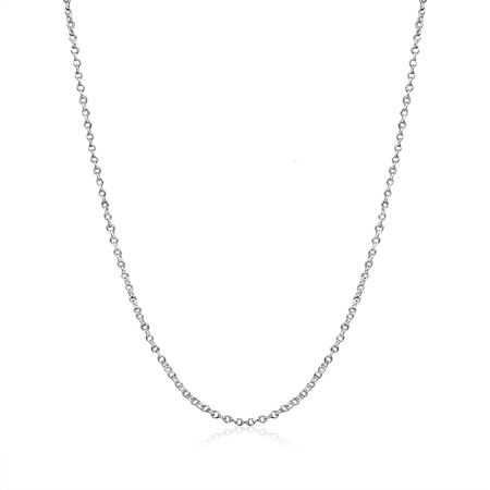 Cable Chain Necklace Sterling Silver Italian 1.3mm Nickel Free 18 inch](Fireflies Necklace)