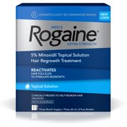 Men's Rogaine Extra Strength 5% Minoxidil Solution, 3-Month Supply (Single Pack)