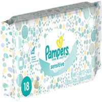 4 Pack - Pampers Sensitive Wipes Convenience Pack 18 ea