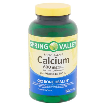 Spring Valley Rapid-Release Calcium Softgels, 600 mg, 150 count