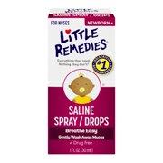 Little Remedies Saline Spray/Drops Newborn +, 1.0 FL OZ