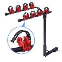 Zimtown Vertical Bike Rack Carrier, 4-Bike Hitch Mount Rack with 2-Inch Receiver for Car Auto Suv, 66 LB Load Capacity