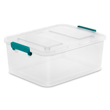 Sterilite, 12.7/12 L Qt. Modular Latch Box, - Latch Top Container