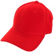 Decky Men s Fitted Blank Curved Brim Baseball Hat Cap 9b6ce0cb8b77