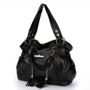 a82e0098567f PU Leather Handbag Shoulder Bag Travel Backpack Tote Tassel Large With  Zipper For Women Girls Lady