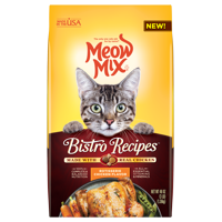 Meow Mix Bistro Recipes Rotisserie Chicken Flavor Dry Cat Food, 3 lb