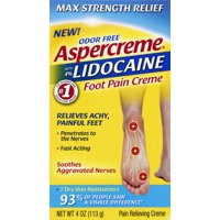 Aspercreme Lidocaine Foot Pain Cream 4oz
