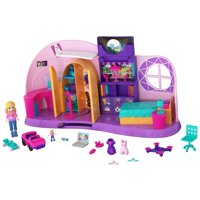 Polly Pocket Go Tiny! Room Playset with Adventure Dolls & Accessories