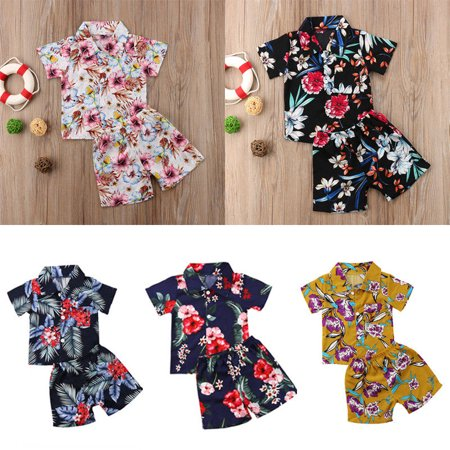 Toddler Infant Kid Baby Boys Clothing Set Summer Beach Clothes T-shirt Tops+Pants Outfits Set Print Children Boy Clothes