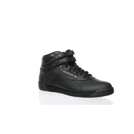 Reebok Womens Freestyle Hi Black Leather Fashion