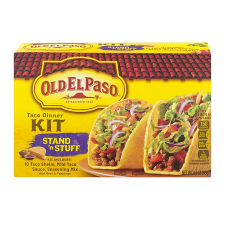 (4 Pack) Old El Paso⢠Stand 'n Stuff Taco Dinner Kit 8.8 oz Box, 8.8 OZ](Giant Taco)