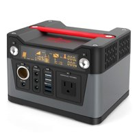 New Arrival Rockpals 300W Portable Power Station 75000mAh Portable Generator CPAP Power Back 110V AC Outlet, QC3.0 USB, 12V/24V DC For Home,Camping