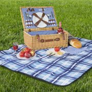 Best Choice Products 2 Person Wicker Picnic Basket W Cutlery Plates Gles
