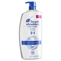 Head and Shoulders Classic Clean Anti-Dandruff 2 in 1 Shampoo and Conditioner, 32.1 fl oz