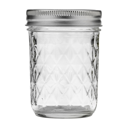 Ball Quilted Crystal Mason Jar w/ Lid & Band, Regular Mouth, 8 Ounces, 12 Count](Mason Jar Prices)