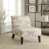 Linon Linen Lily Chair, Multiple Patterns, 17.5 inches Seat Height