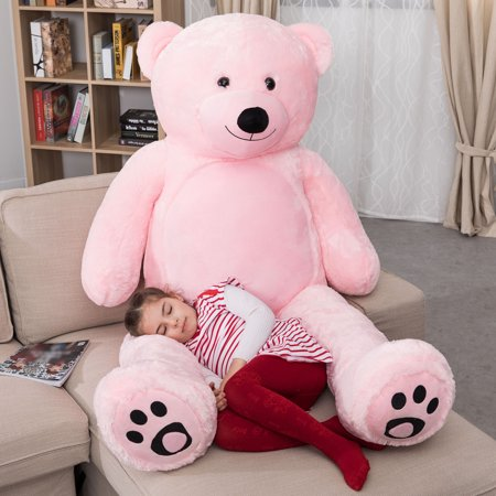 WOWMAX 6 Foot Giant Huge Life Size Teddy Bear Daney Cuddly Stuffed Plush Animals Teddy Bear Toy Doll for Birthday Christmas Pink 72 Inches](7 Ft Teddy Bear)