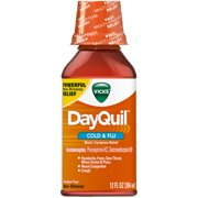 Vicks DayQuil Alcohol Free Non-Drowsy Cold & Flu Liquid, 12 fl. Oz