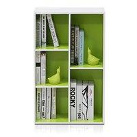 Furinno 11069 5-Cube Reversible Open Shelf, White/Green