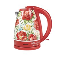 Pioneer Woman 1.7 Liter Electric Kettle Red/Vintage Floral | Model# 40970 by Hamilton Beach