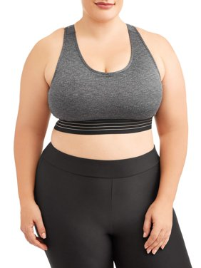 Women's Plus Size Medium Impact Stripe It Sports Bra