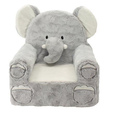 Chairs Seating Seat House Office (Sweet Seats Adorable Elephant Children's Chair, Standard Size, Machine Washable Removable Cover, 13