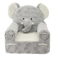 """Sweet Seats Adorable Elephant Children's Chair, Standard Size, Machine Washable Removable Cover, 13""""L x 18""""W x 19""""H"""