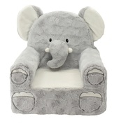 "Sweet Seats Adorable Elephant Children's Chair, Standard Size, Machine Washable Removable Cover, 13""L x 18""W x 19""H"