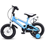 6edaffd8a3d1 Goplus 12'' Freestyle Kids Bike Bicycle Children Boys & Girls w Training  Wheels Blue