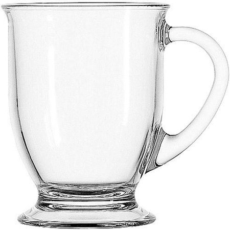 Mainstays Anchor Hocking Clear Mug Set, 4 Piece - Clear Glass Coffee Mugs