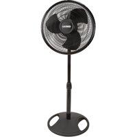 """Lasko 16"""" Oscillating Stand 3-Speed Fan, Model #2521, Black"""