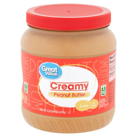 Calories Peanut Butter - Great Value Creamy Peanut Butter, 64 oz