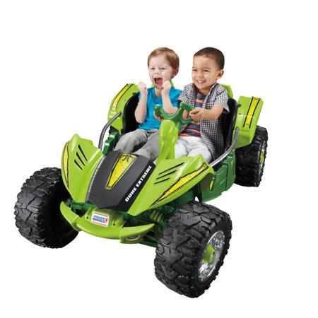 Ford Electric Vehicles - Power Wheels Dune Racer Extreme 12-V Battery-Powered Ride-On, Green