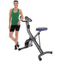 Fitness Reality U2500 Folding Upright Exercise Bike with Heart Pulse Sensors