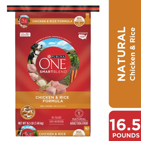 Purina ONE Natural Dry Dog Food, SmartBlend Chicken & Rice Formula - 16.5 lb.