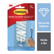Command Clear Hook with Clear Strips, Large, 1 Hook, 2 Strips/Pack