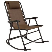 Best Choice Products Foldable Zero Gravity Rocking Patio Recliner Chair - Brown