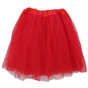 f2dda735fc Plus Size Red Adult Size 3-Layer Tulle Tutu Skirt - Princess Halloween  Costume,